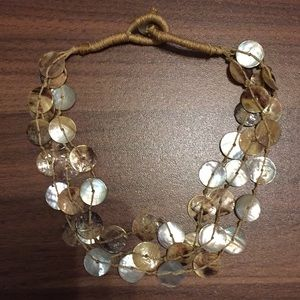 Vintage mother of pearl statement necklace